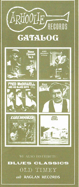 Arhoolie Records Catalog circa 1975