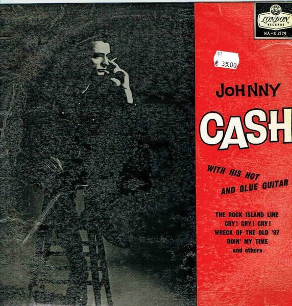 JOHNNY CASH: With His Hot and Blue Guitar LP